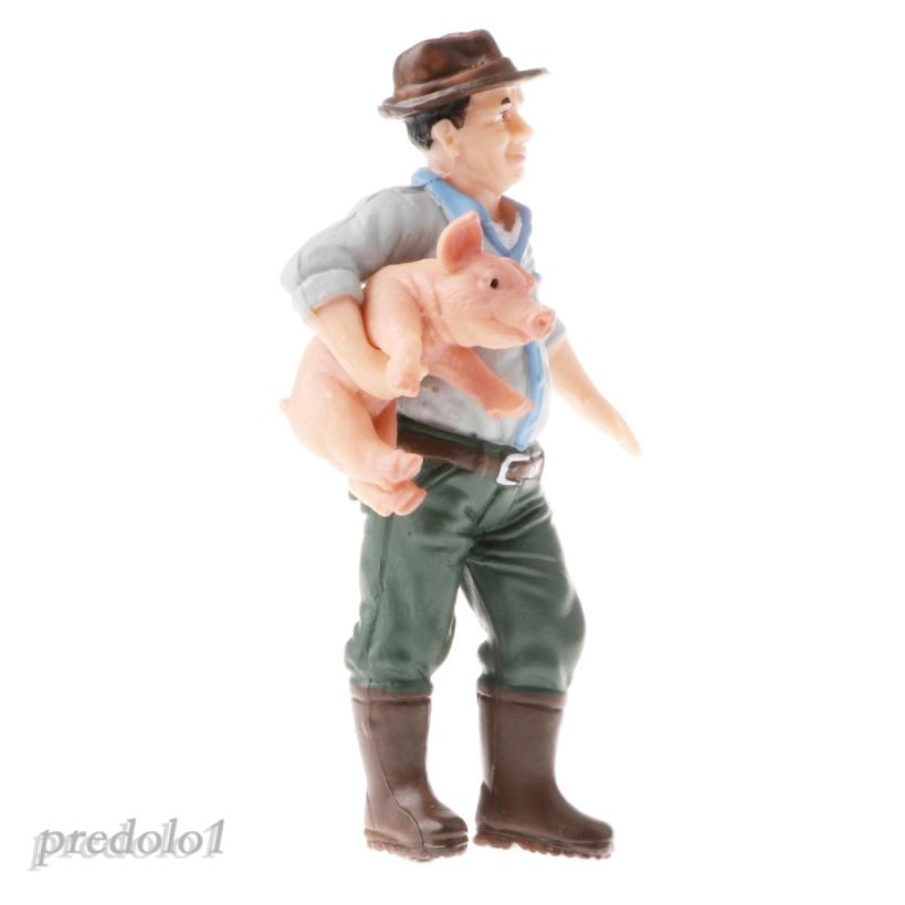 2pcs Simulation Farmer Model Figurine Educational Toy Gift for Kids Children