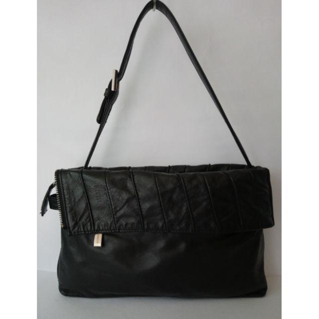 Ssamzie Soft Leather Shoulder Bag
