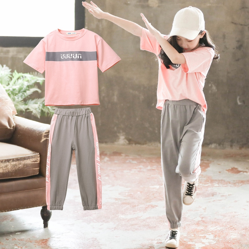 Unicorn Girls Casual Outfit Set Summer Short Sleeve Cotton Tracksuit Age 6 8 12