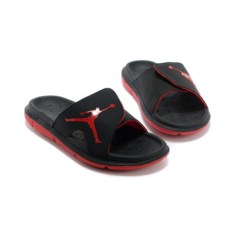 562bc67b97ab SLK ☆ NIKE AIR JORDAN Hydro Retro Slide Black Red