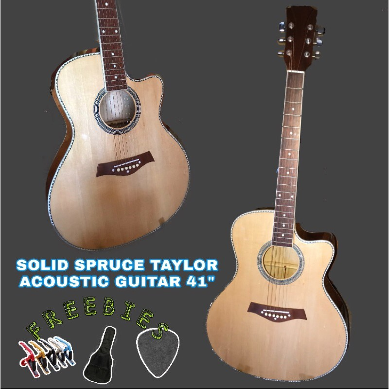 Solid Spruce Taylor Acoustic Guitar 41 With Trussrod Shopee Philippines
