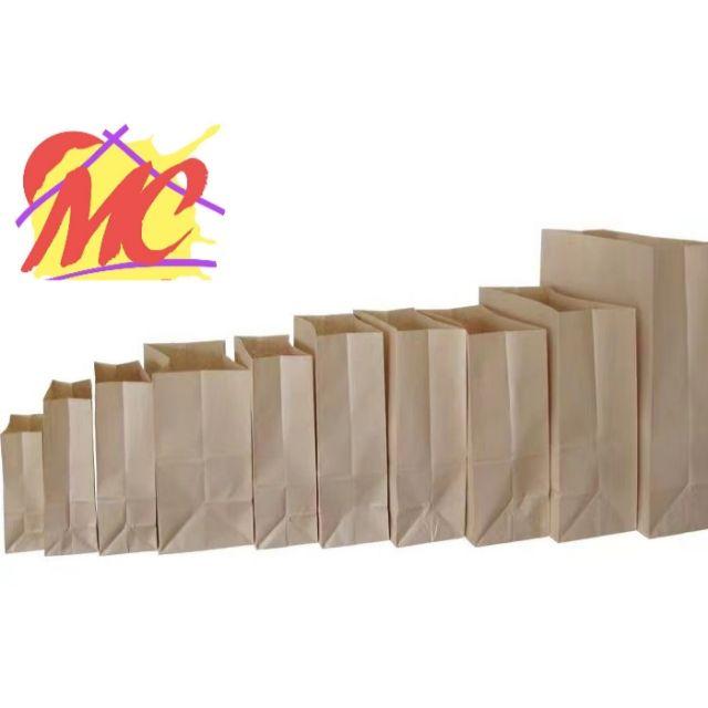 Brown/Kraft Paper Bag 50/100 pcs. (Medium sizes #6, 8, 10, 12)