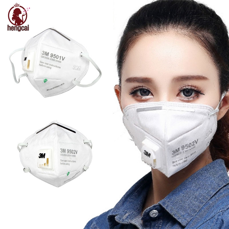 Anti Respirator 3m Dust Pollution Folding 9501v 5 Mask Pm2 Mouth