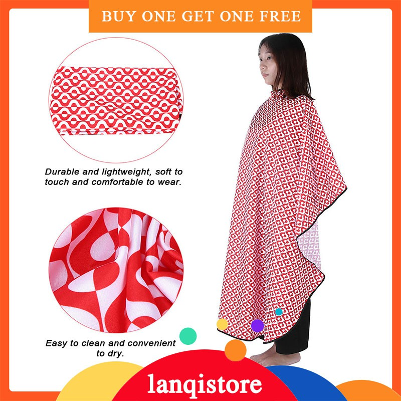 🌱Ready🌱Waterproof Anti-static Stying Capes Oilproof Salon Cape Barber  Hairdressing Wrap Red