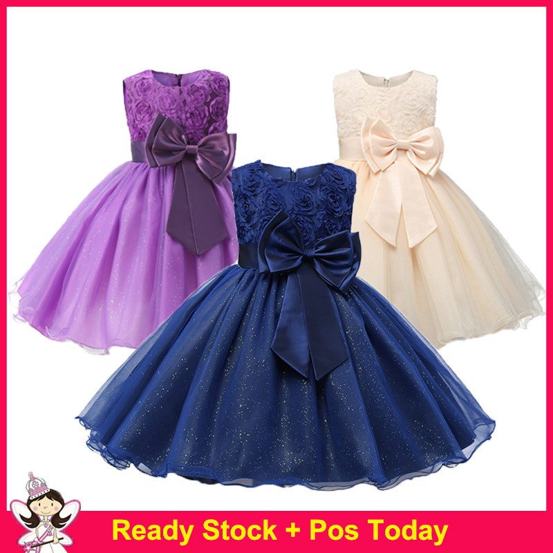 Infant Kids Baby Girl Party Princess Dress Sequins Mini Tutu Tulle Summer Dress