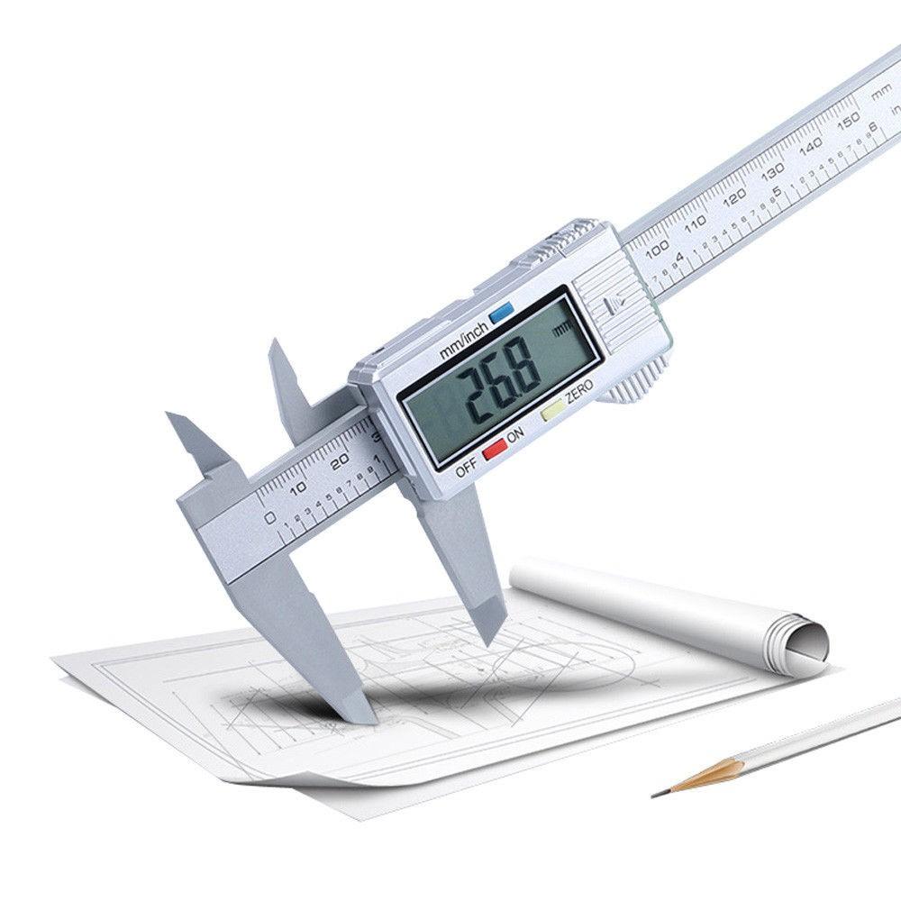 Stainless steel Vernier Scale Caliper Gauge Micrometer 150mm//6inch LCD Digital