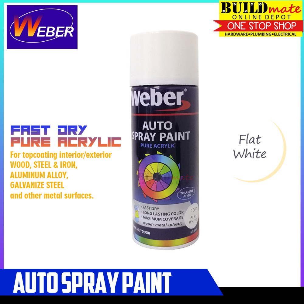 WEBER Auto Spray Paint SP-1007 FLAT WHITE
