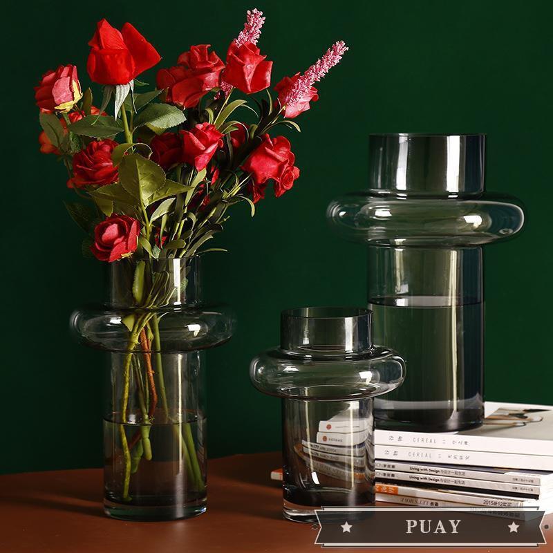 Light Luxury Transparent Glass Vase Decoration Living Room Flowers Hydroponic Flower Vase Vase Nordic Simple Table Decorations Shopee Philippines