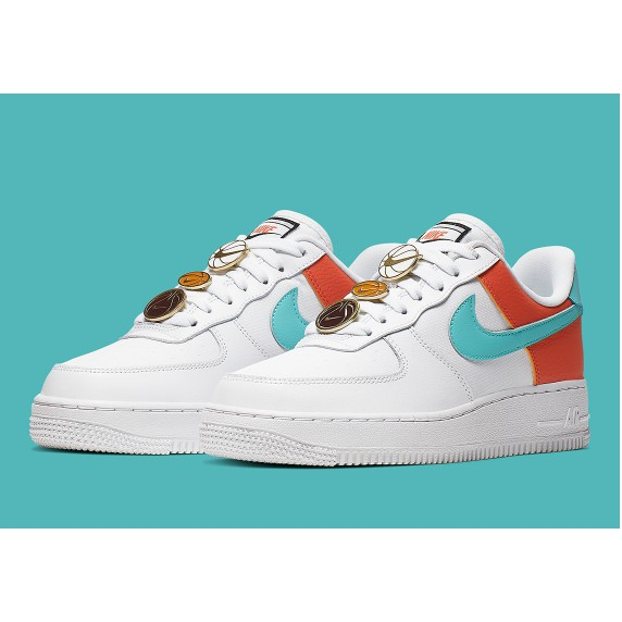 Nike AirForce 1 Lace Locks Adorn White Aqua Womens (OEM) Authentic Quality