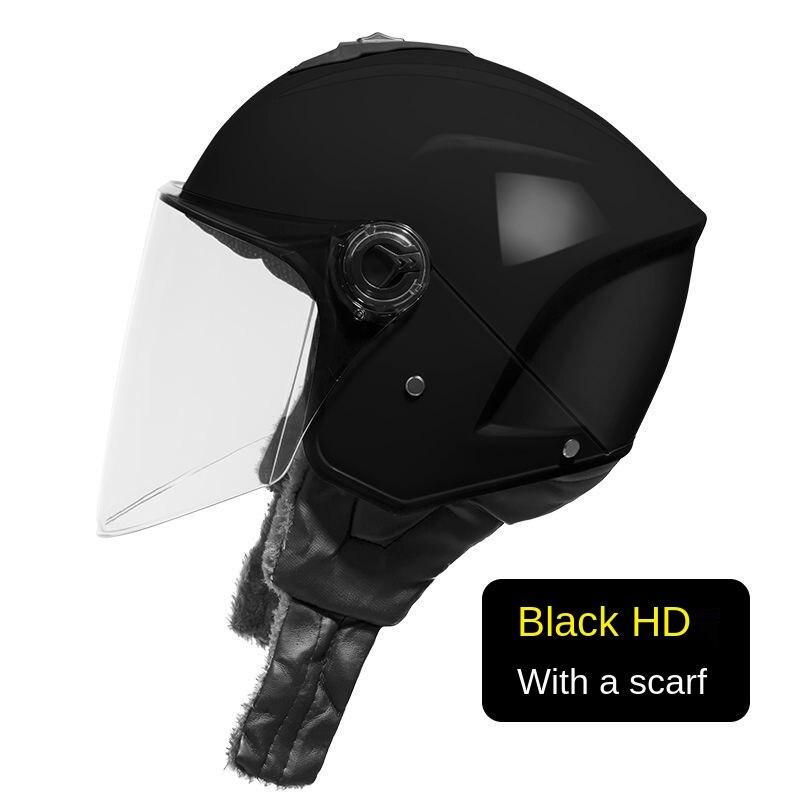 YUEMS Electric Motorcycle Helmet Men And Women Battery Car Sunscreen Four Seasons Winter Universal Half-cover Helmet