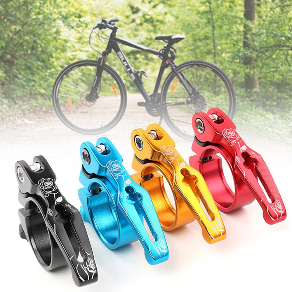Bicycle Clamp Bike Seat Clip Post Seatpost Lock Bike Accessory Aluminum Durable