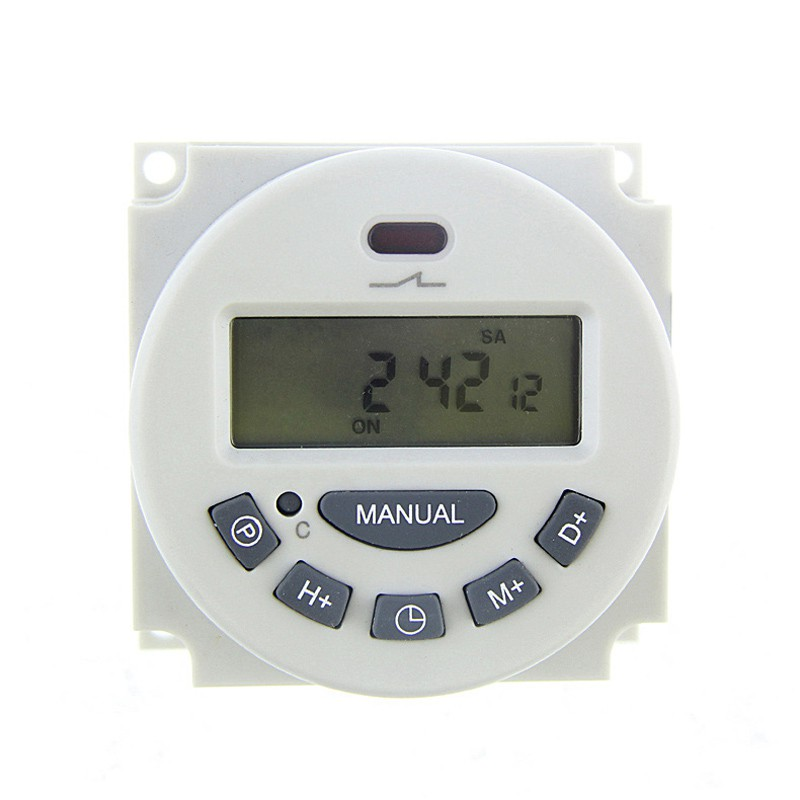 ⭐IEASY⭐Electronic Digital Programmable Timer Relay Switch LCD Display 12/24  Hour