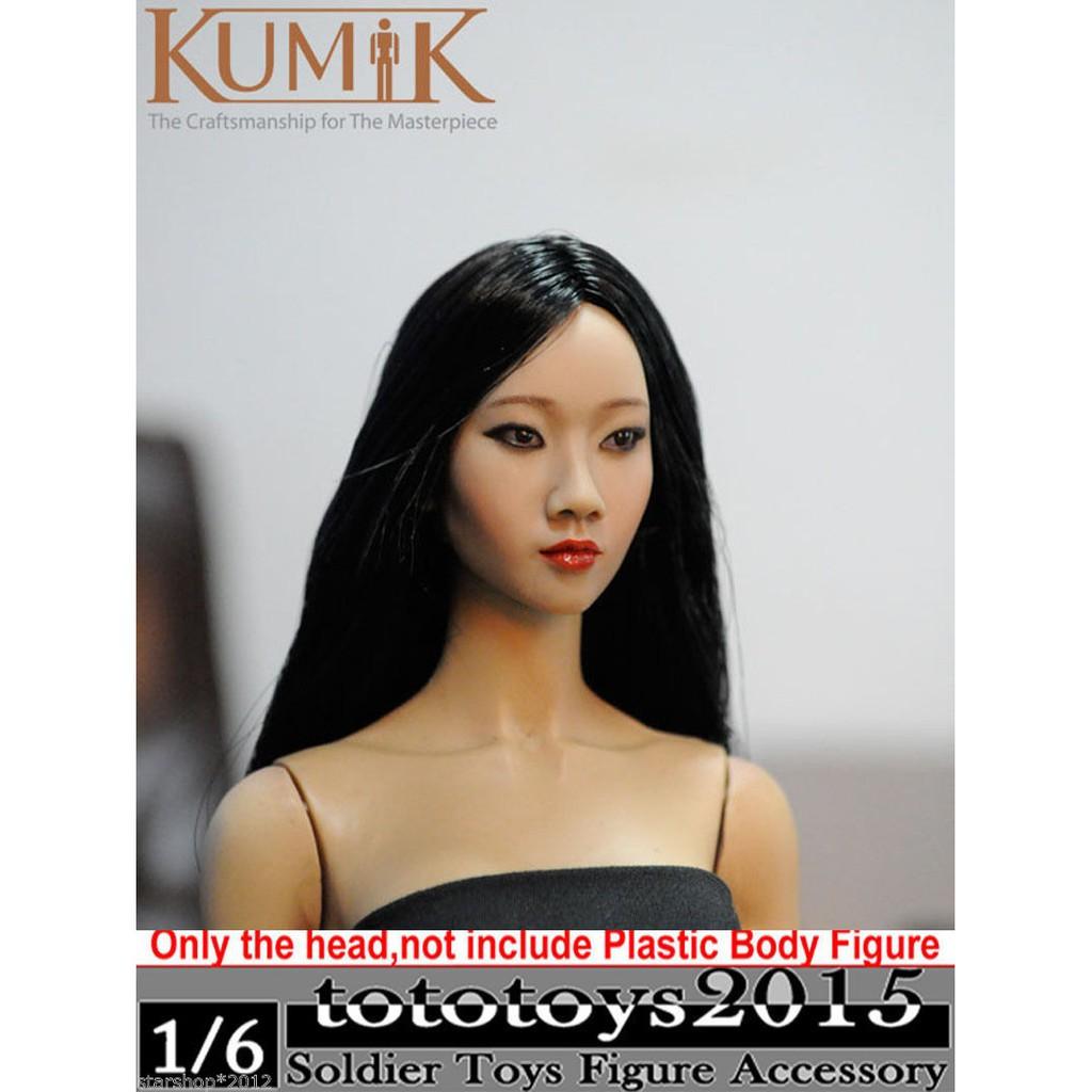 "1:6th KUMIK Female head Sculpt Blonde Hair F 12/"" KUMIK Action Figure 13-12-Np"