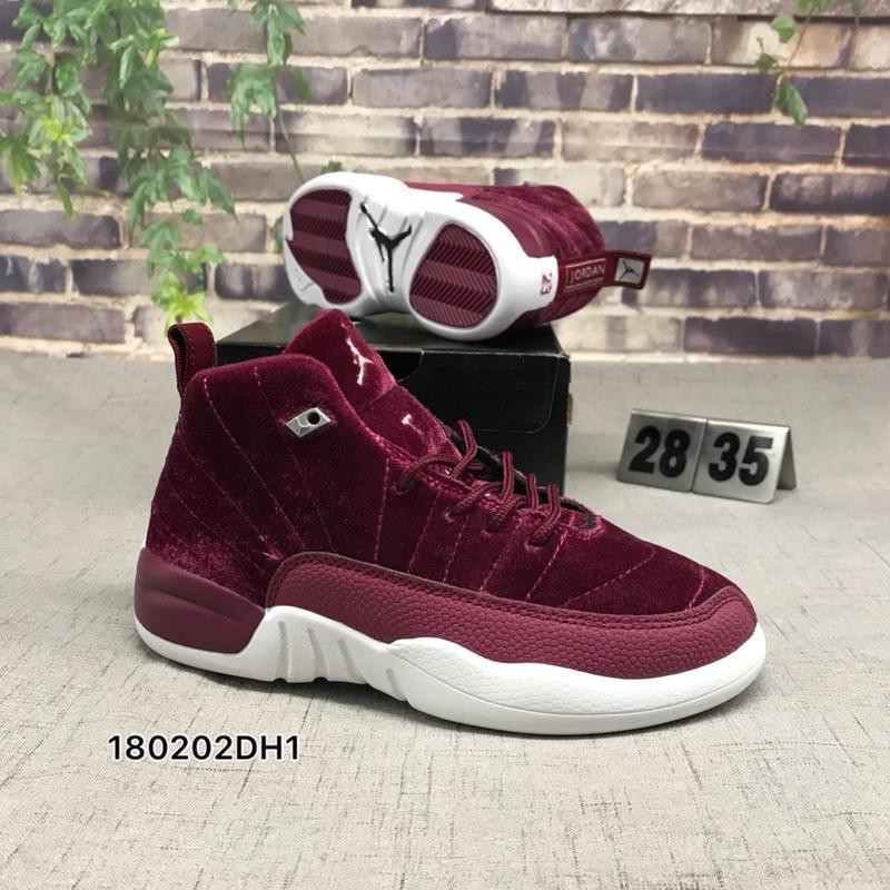 latest discount outlet cheap price ready stock basketball shoes boys and girls nike jordan 12 r