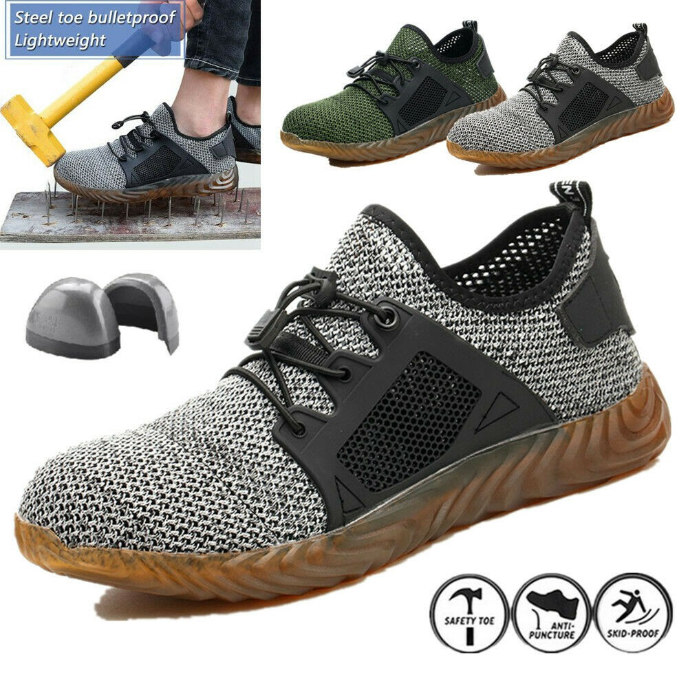 MEN/'S SAFETY STEEL TOE CAP INDESTRUCTIBLE BULLETPROOF WORK SHOES SPORTS SNEAKERS