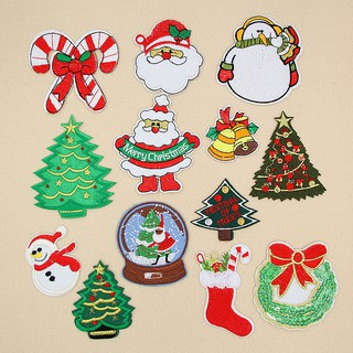 Christmas Design.Merry Christmas Design Embroidered Cloth Iron On Patches Sewing Motif Appliques