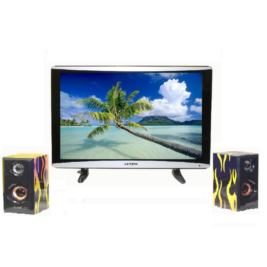 """Lexing LED TV 24 """" LX-2408 With FREE"""
