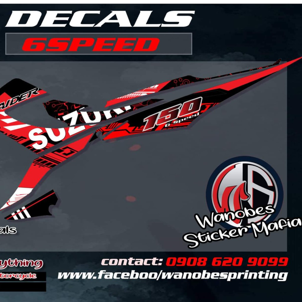 Sniper 150 mx king decals shopee philippines