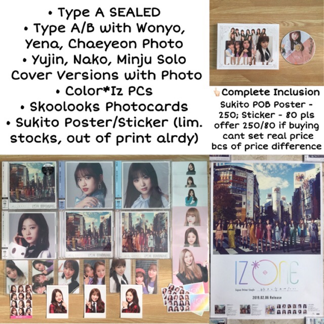 IZ*ONE IZONE Japan Suki To Iwasetai Color*Iz Album Photocard