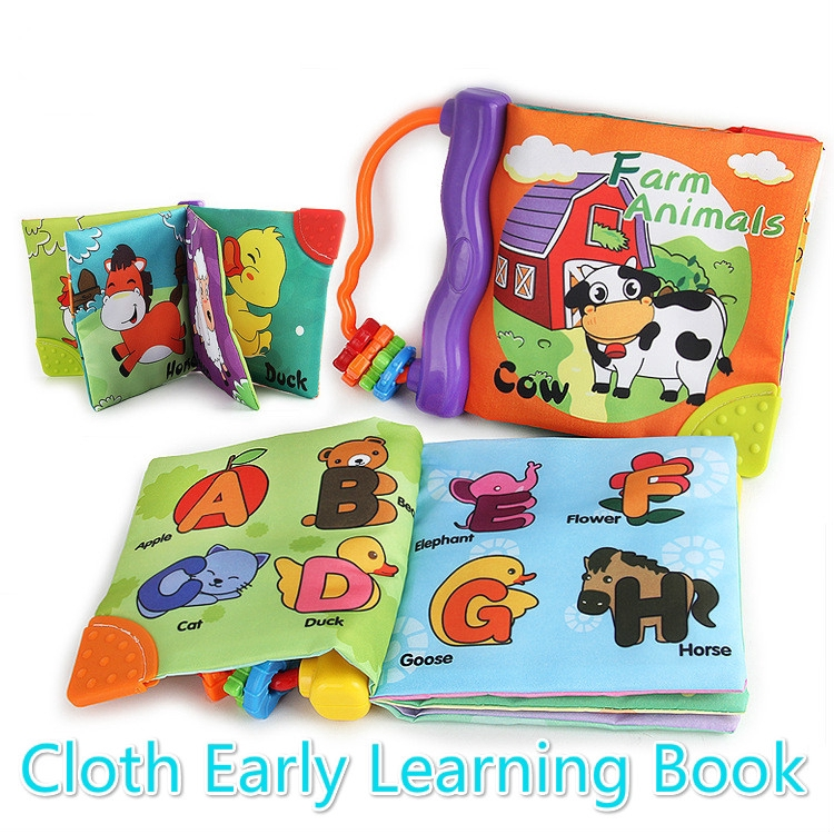 Baby Toy Soft Cloth Books Baby Intelligence Development Educational Cloth Toy BS