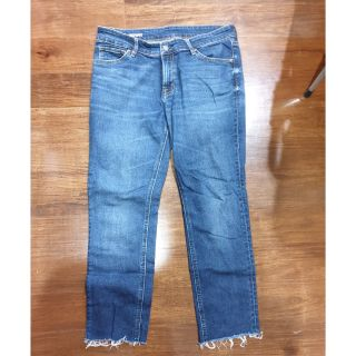 moderate cost high quality materials pretty cheap MUJI boyfit cropped jeans