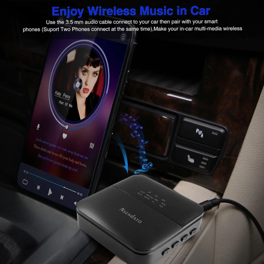 3 5mm Hd Bluetooth 5 0 Audio Transmitter Receiver Csr8675 Wireless Aptx Audio Auto On Adapter For Tv Car Aptx Hd Ll Low Latency Shopee Philippines