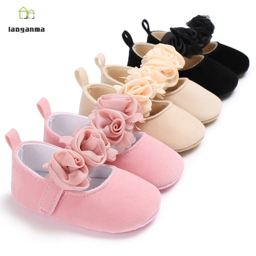 Hot Newborn Shoes Infant Baby Girls Walking Shoes Soft Sole CHRISTENING Size 234