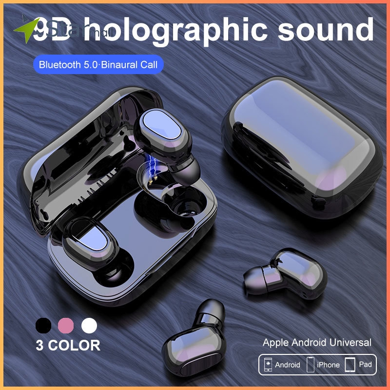 Cod L21 Bluetooth Headset Wireless Earphone 5 0 Tws Universal Touch Sensor For Android Iphone Lab Shopee Philippines