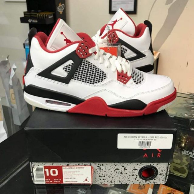 cheaper 055f9 51ca4 COD Air Jordan 4 FIRE RED OEM for Men   Shopee Philippines