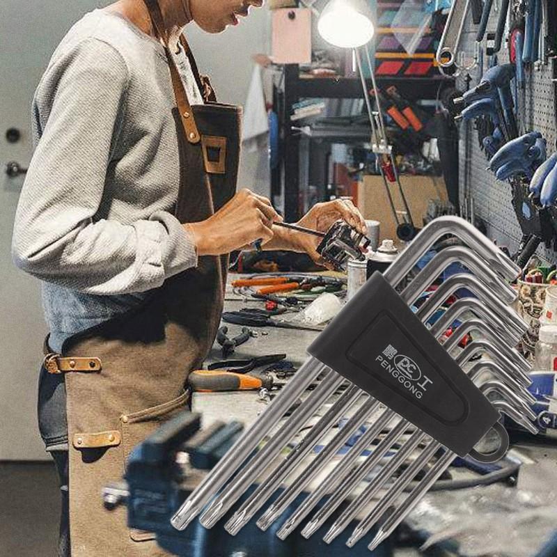 9Pcs Hex Key Wrench Set Torx L Shape Repair Tools Screwdriver Tools Set Useful