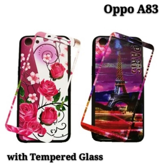 timeless design 4301c c4b0e Oppo A83 2 in 1 back case W / tempered glass