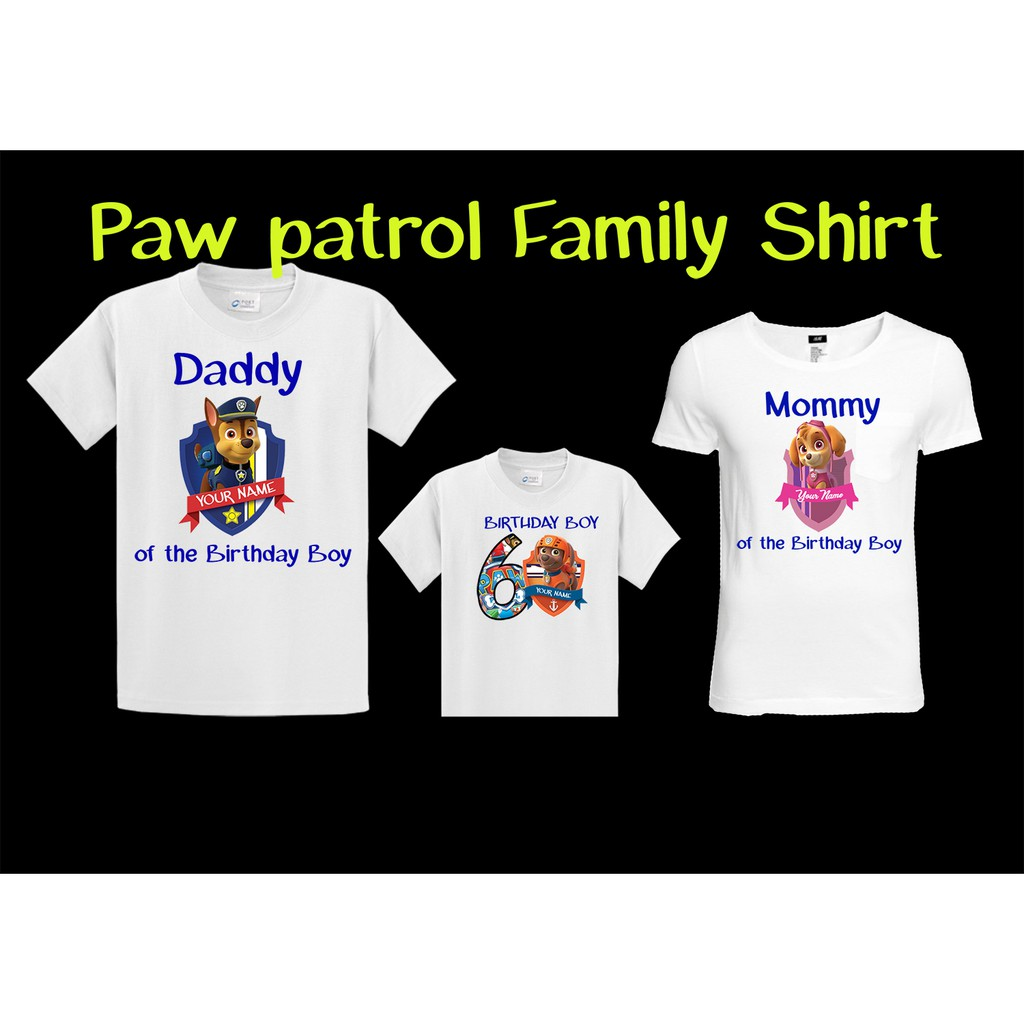 Paw Patrol Family Shirt