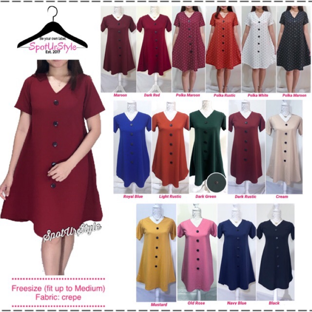 Dolly A-Line Dress • button design only