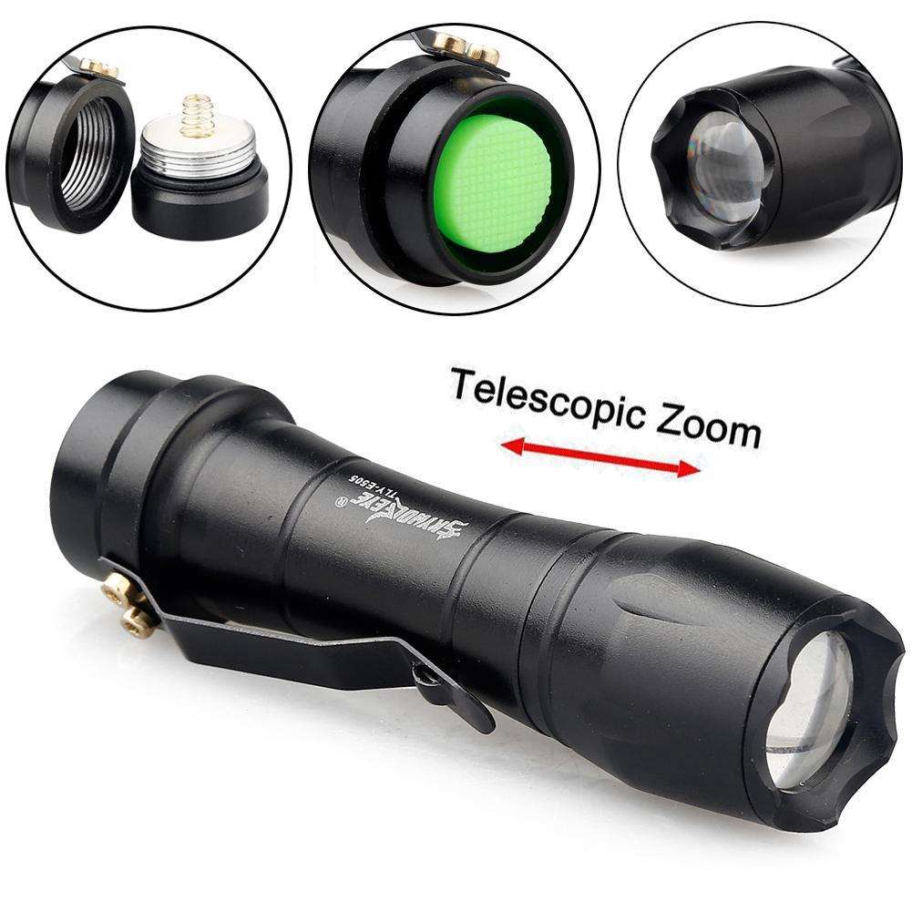 60000lm T6 LED Flashlight Torch 3-modes Zoom Tactical 14500 Lamp Light Camping·