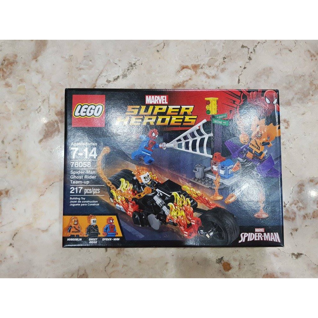 Super Team Marvel Spider Lego Rider ManGhost 76058 Up Heroes A4L5jR3