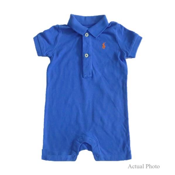 Ralph Lauren Baby Boy Short Sleeve Polo Shirts Authentic Blue 3m