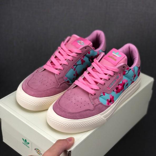 Adidas Arizona x Continental Vulc Women Low Cut Pink Casual Shoes Original