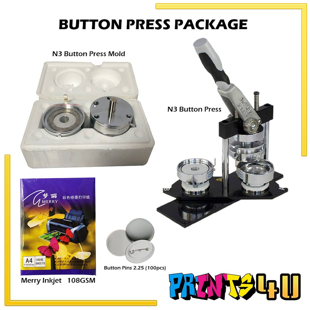 N3 BUTTON PRESS PACKAGE (2 25 MOLD)