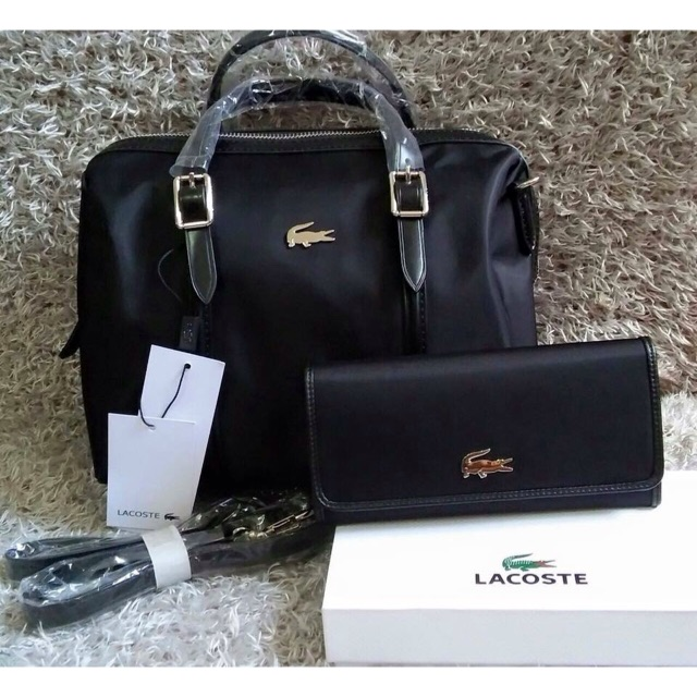 01147308e SALE! LACOSTE DOCTORS BAG WITH WALLET SET