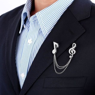 0a5250dd5bf Crystal Rhinestone Brooches Metal Tassel Collar Pins Music Symbol Brooch    Shopee Philippines