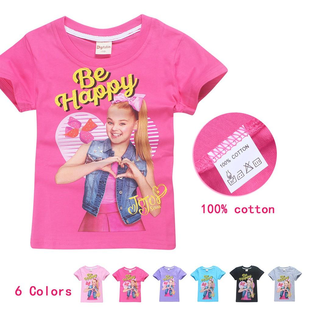 e7c62fa0255ad JOJO SIWA Short Sleeve T-Shirt Tee Tops
