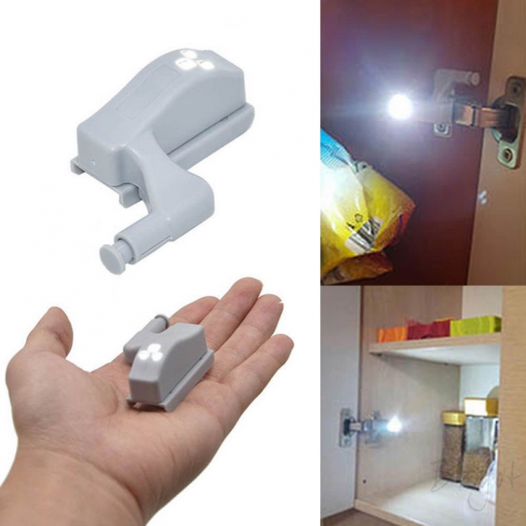 1pc SMD-3528 LED Light lamp attached on Hinges of Kitchen Wardrobe Cabinet door