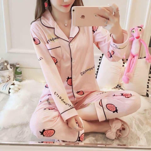 #ZHEN Cute Korean Style Women's Sleepwear Nightwear Pajama Terno wear