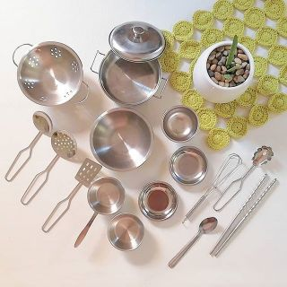 17 Pc Stainless Steel Mini Cooking Utensils Set
