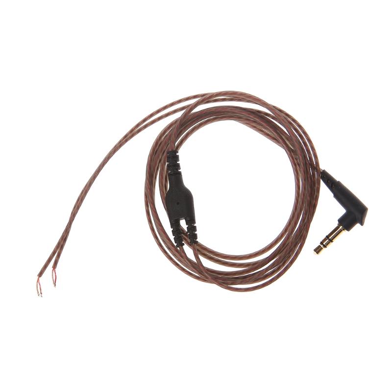 3 5mm Ofc Core 3 Pole Jack Headphone Audio Cable Diy Earphone Maintenance Wire Shopee Philippines