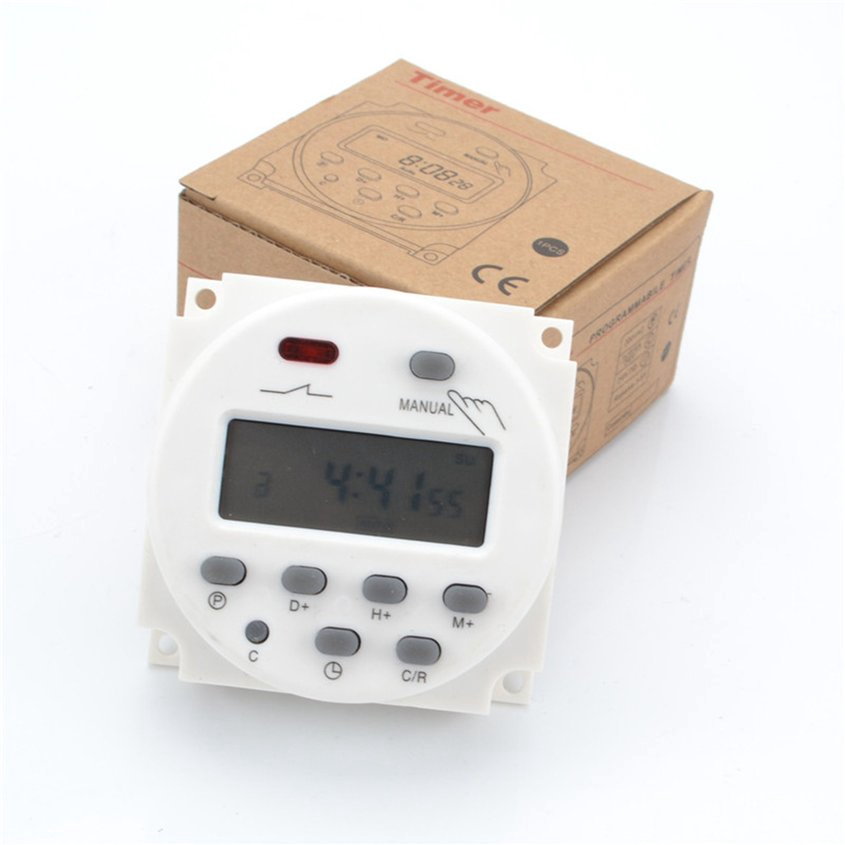 Upgraded CN101A Digital LCD Power Weekly Programmable Timer Relay Switch IR
