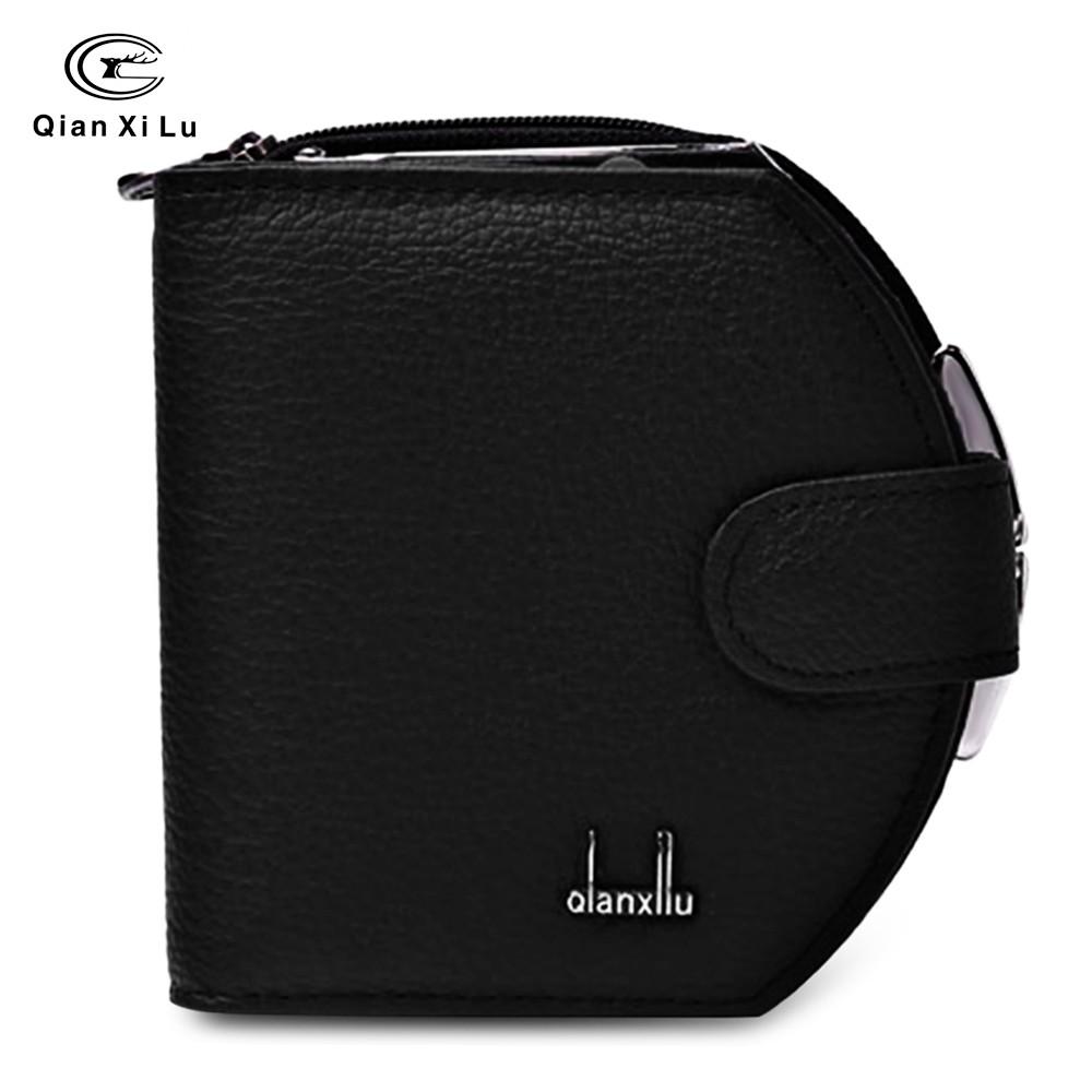 ac1f9b57bd FM  HAUT TON Genuine Leather Trifold Wallets for Men Credit ...