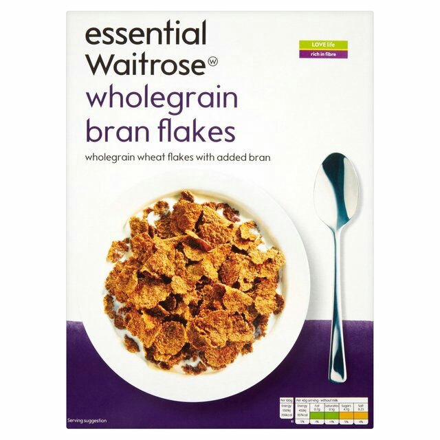 Essential Waitrose Wholegrain Bran Flakes 500gm