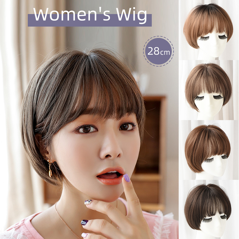 Seven Queen 28cm Women S Wig Short Hair Bobo Hair Style Synthetic Fiber Strong Beauty Synthetic Natural Look Fashion Party Cosplay Shopee Philippines