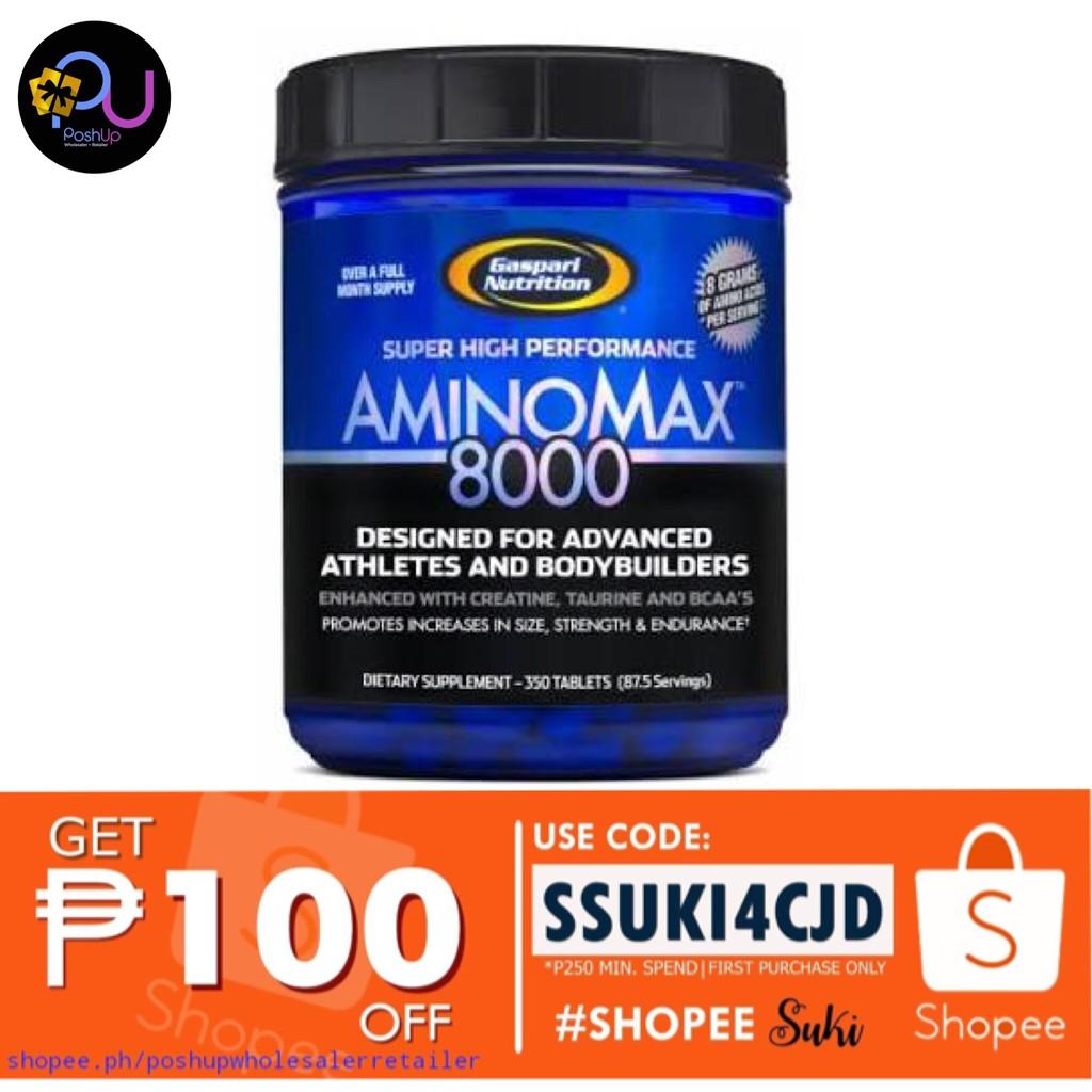 poshup Gaspari Nutrition Amino Max 8000 350tabs
